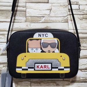 Karl Lagerfeld Taxi Maybelle Cat Crossbody